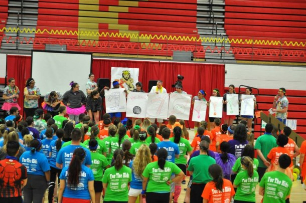 Image from KC Mini-THON Facebook Students raise money for charity at the first ever KC Mini-THON, held in 2014. The event had 150 dancers.