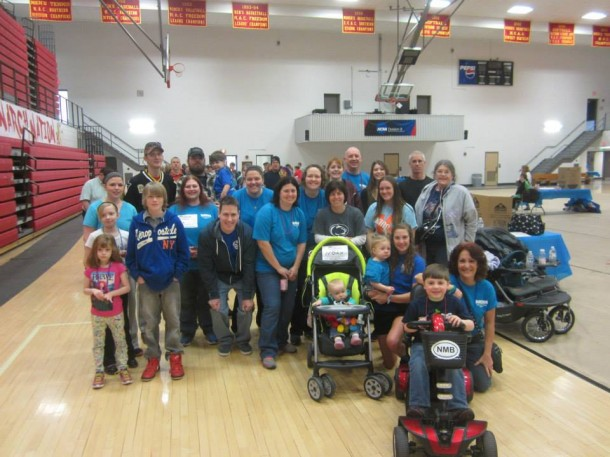Image courtesy of Christi Atkinson and the Scranton MDA Particpiants in last year's MDA Walk at King's College paused for a photo. The event at King's was one of many nationwide MDA walks to help raise funds for MDA research and programs to help individuals living with the disease.