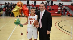 Celia Rader is one of 19 Lady Monarchs to score 1,000 points. (King's College Athletics)