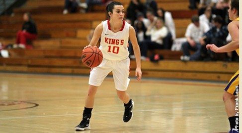 Celia Rader added 16 points against Keystone College. Photo Credit: King's College Athletics