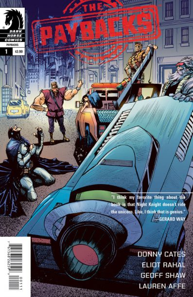 "Image Dark Horse Comics website ""The Paybacks"" is the newest series from Dark Horse Comics that finds superheroes facing normal human problems, like repossession."