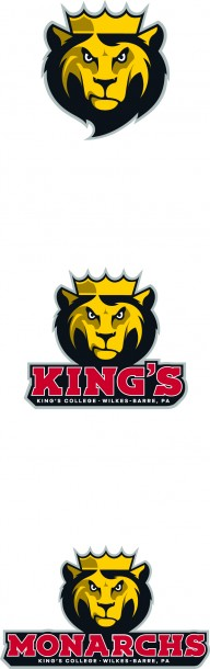 Image courtesy of the King's College Marketing  and Communications Pictured above are Leo the Lion's updated logo and logotype, designating the new athletic mark as part of the brand identity of King's College.