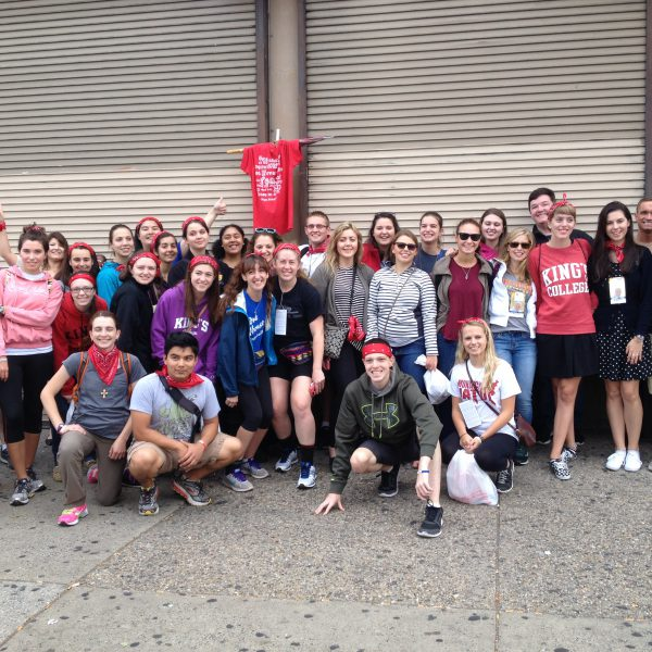 King's Students Attend Papal Mass in Philadelphia