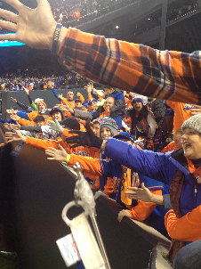 John Flynn//The Crown Mets fans gather for the 4th game of the World Series against the Kansas City Royals.