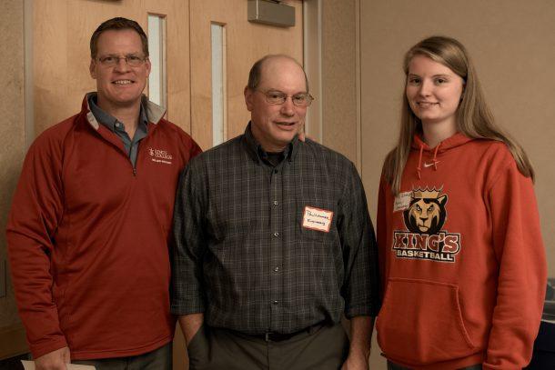 Kruschef Sanchez//The Crown Jim Anderson, Dr. Paul Lamore and Erin Schmidt attend the KC-WiSE social.