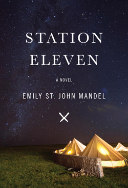 "emilymandel.com ""Station Eleven"" is a post-apoclyptic novel that focuses on how art can help humanity recover after disaster."