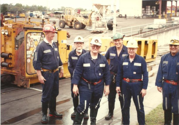 Image courtesy of Bernie Mulligan Bernie Mulligan (second from the right) is part of a Bethlehem Steel factory tour in 1980.