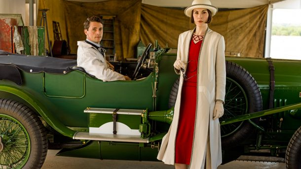 "pbs.org Matthew Goode as racecar driver Henry Talbert and Michelle Dockery as Lady Mary Crawley in season 6 of ""Downton Abbey.""  After airing its final season, ""Downton"" is nominated in the Best Drama Series category."
