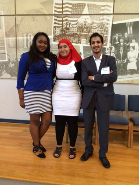 Image courtesy of Bill Bolan From left to right: Ida Dumbuya, Sara Ahmed and Umar Alkhaldi.