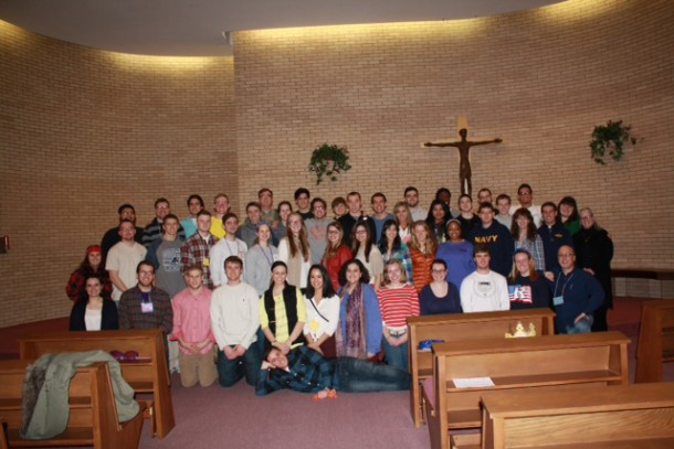 Image courtesy of Michelle Lamaire  Roughly forty King's College students spent the weekend in prayer, reflecting on their lives and making new friends as part of the college's annual Christian retreat.