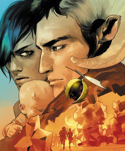 www.comicsalliance.com Alana, a Landfallian army deserter, and Marko, a Wreather army deserter, bring a child into a war-torn world.